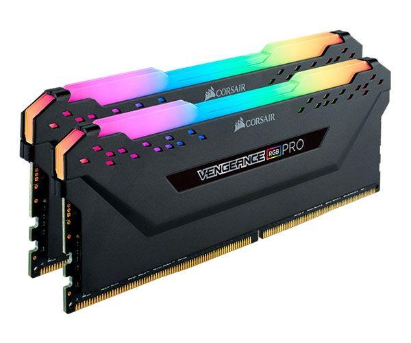 MEMORIA CORSAIR VENGEANCE RGB PRO 16GB (2X8) DDR4 3200MHZ PRETA