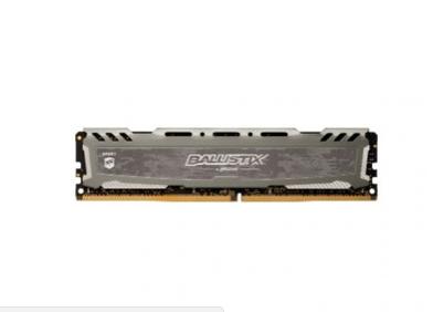 MEMORIA CRUCIAL BALLISTIX SPORT 8GB (1X8) 2400MHZ DDR4 CINZA
