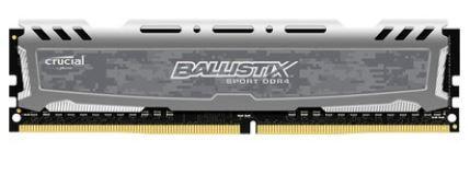 Memória Crucial Ballistix Sport LT Gray 8GB 2666Mhz DDR4 - BLS8G4D26BFSTK