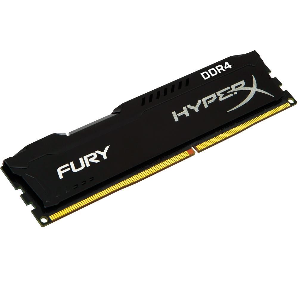 Memoria Kingston Hyperx Fury 4GB (1X4) DDR4 2400MHZ Preta HX424C15FB/4