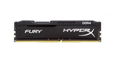 MEMORIA KINGSTON HYPERX FURY 4GB DDR4 2400MHZ BLACK