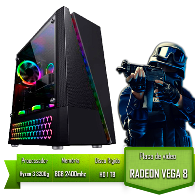 PC GAMER ALLIGATOR GAMING AMD RYZEN 3 3200G / 8GB 2400MHZ /HD 1TB / VEGA 8