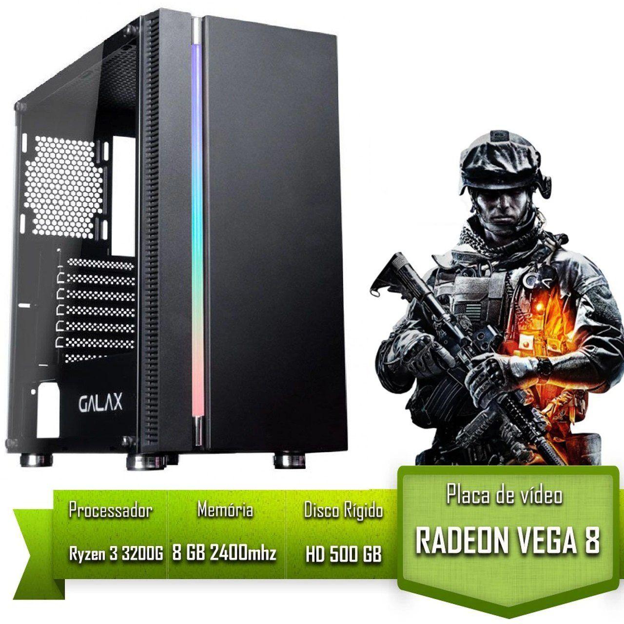 PC GAMER ALLIGATOR GAMING AMD RYZEN 3 3200G / 8GB 2400MHZ /HD 500GB / VEGA 8