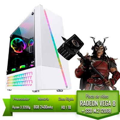 PC GAMER ALLIGATOR GAMING AMD RYZEN 3 3200G / 8GB 2400MHZ / SSD 120GB M.2 /HD 1TB / VEGA 8