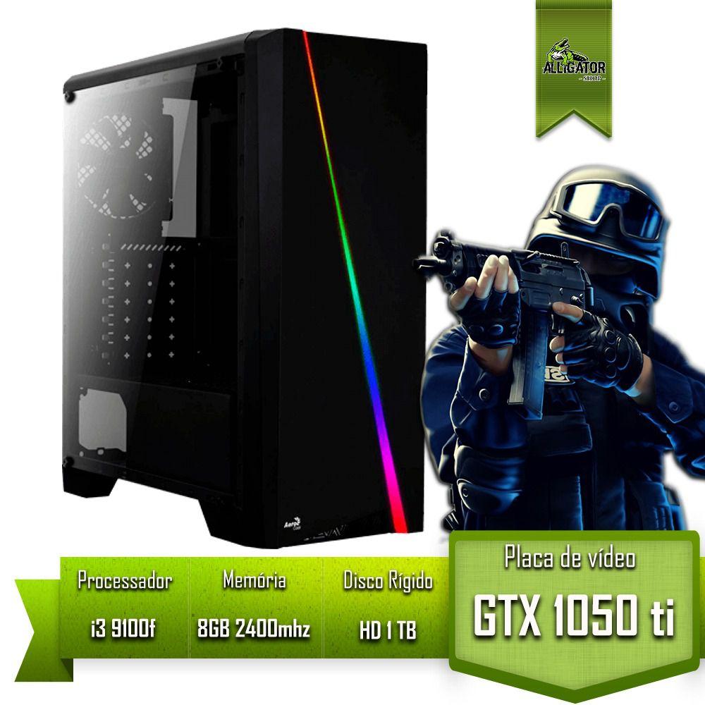 Pc Gamer Alligator Gaming Intel i3 9100f / GTX 1050 Ti 4GB / 8GB 2400mhz / HD 1Tb