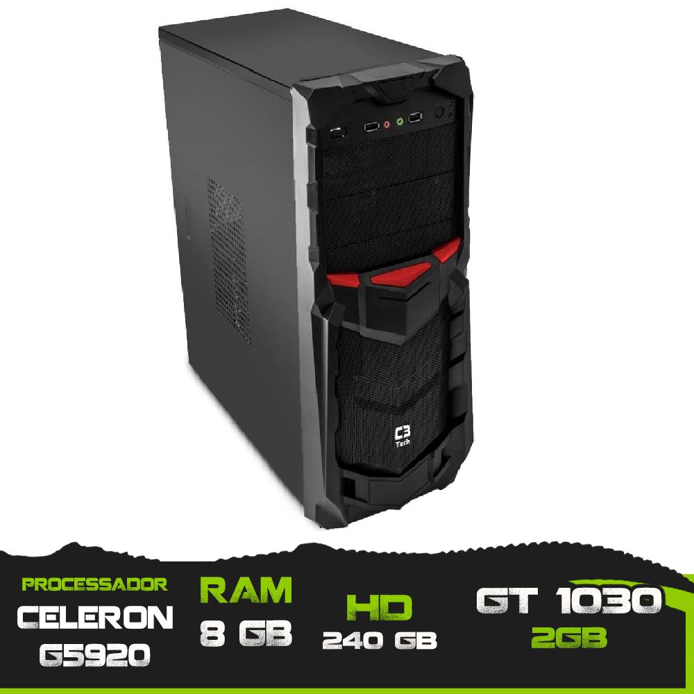 Pc Gamer Celeron G5920 / Memória 8GB / SSD 240GB / GT 1030 2GB