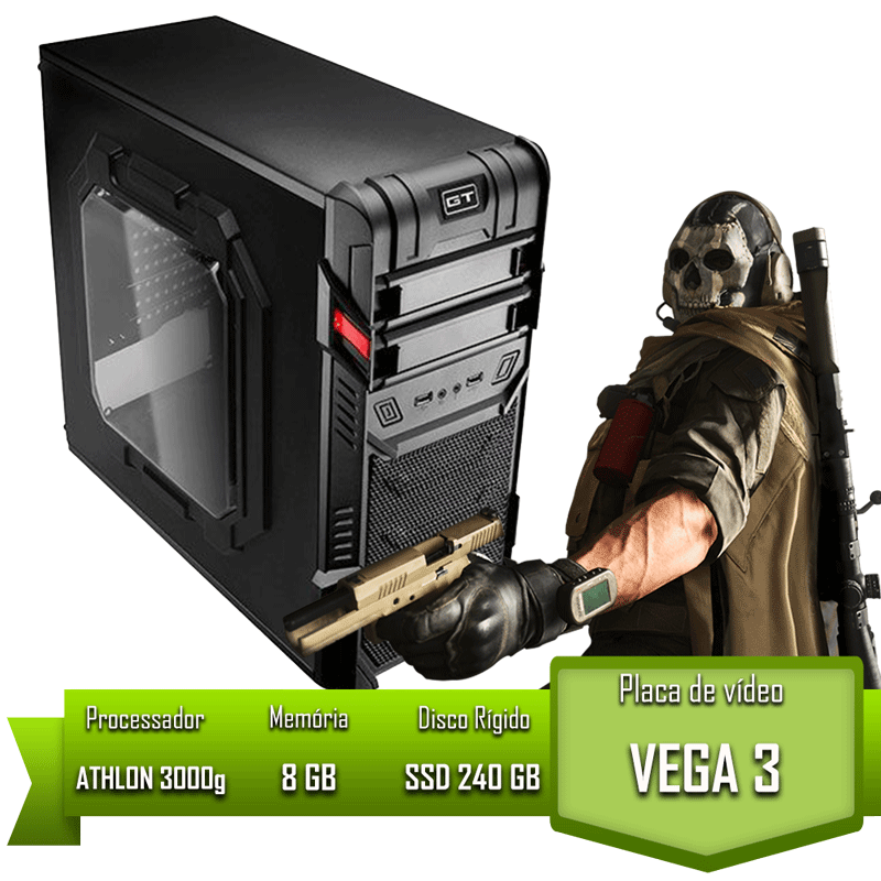 PC HOME ATHLON 3000G / 8GB MEM / SSD 240GB
