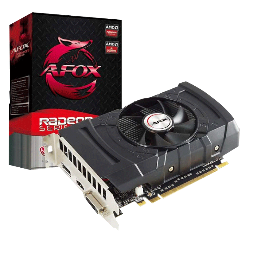 PLACA DE VIDEO AFOX RADEON RX 550 2GB 128-BIT AFRX550-2048D5H3