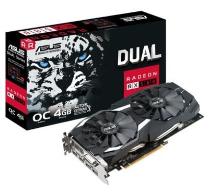 Placa de Video Asus AMD Radeon RX 580 OC 4GB, GDDR5 - DUAL-RX580-O4G