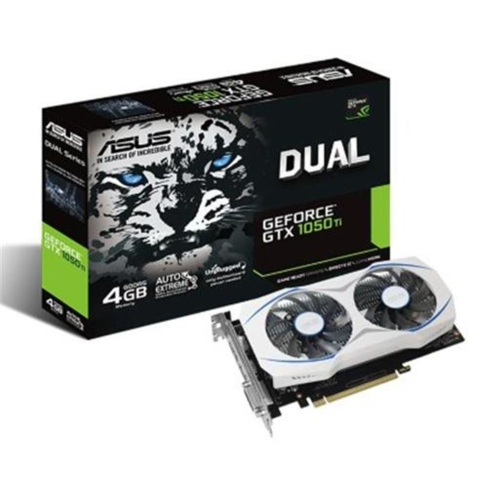 PLACA DE VIDEO ASUS DUAL GEFORCE GTX 1050 TI 4GB, DUAL-GTX1050TI-O4G