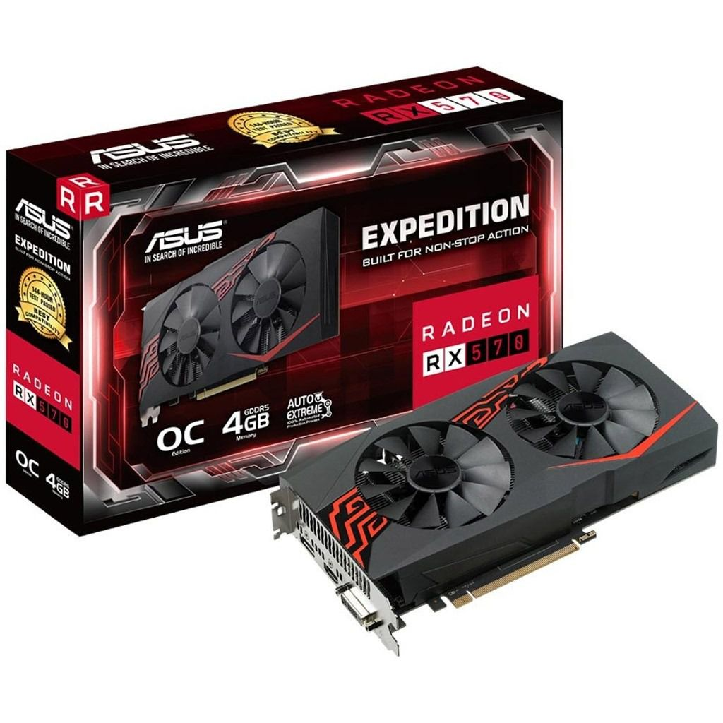 PLACA DE VIDEO ASUS EXPEDITION RADEON RX 570 4G OC EDITION, EX-RX570-O4G