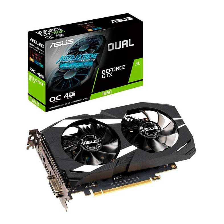 PLACA DE VIDEO ASUS GEFORCE GTX 1650 4GB GDDR5 DUAL OC 128-BIT DUAL-GTX1650-O4G