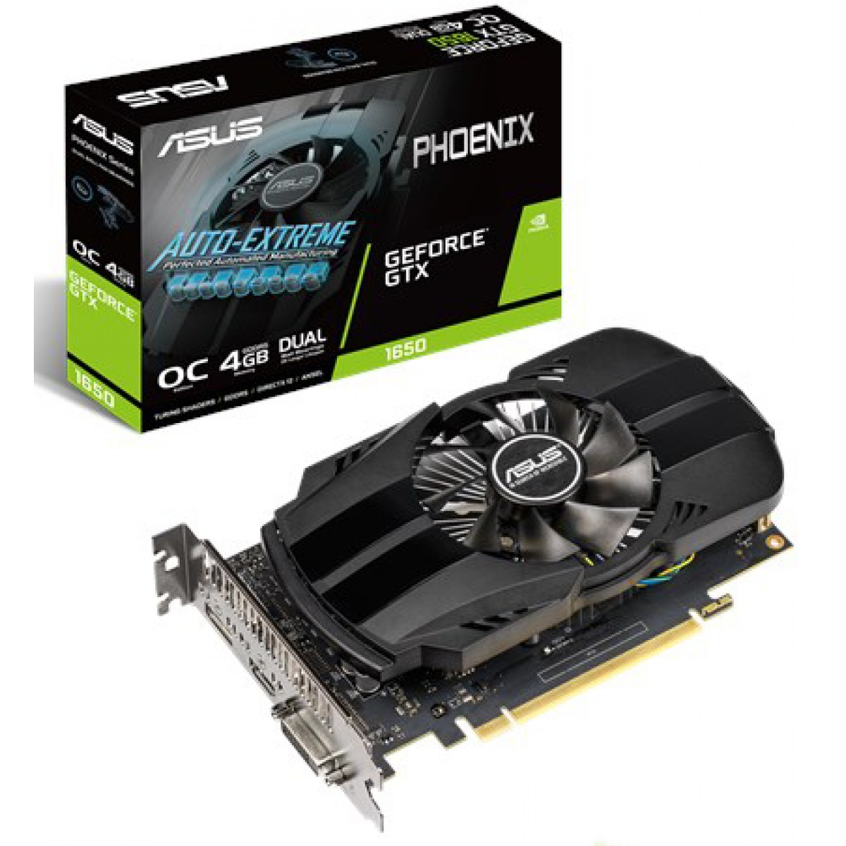 Placa De Video Asus Geforce GTX 1650 4GB GDDR5 OC Phoenix 128-BIT PH-GTX1650-O4G