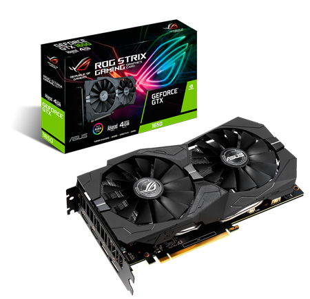 PLACA DE VIDEO ASUS GEFORCE GTX 1650 STRIX 4GB DDR5 128 BITS ROG-STRIX-GTX1650-4G