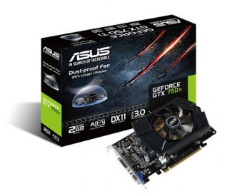 Placa de Vídeo ASUS GEFORCE GTX 750 TI 2GB