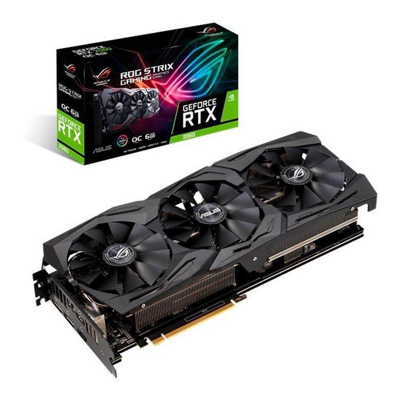 PLACA DE VIDEO ASUS GEFORCE RTX 2060 6GB GDDR6 ROG STRIX OC 192-BIT ROG-STRIX-RTX2060-O6G-GAMING