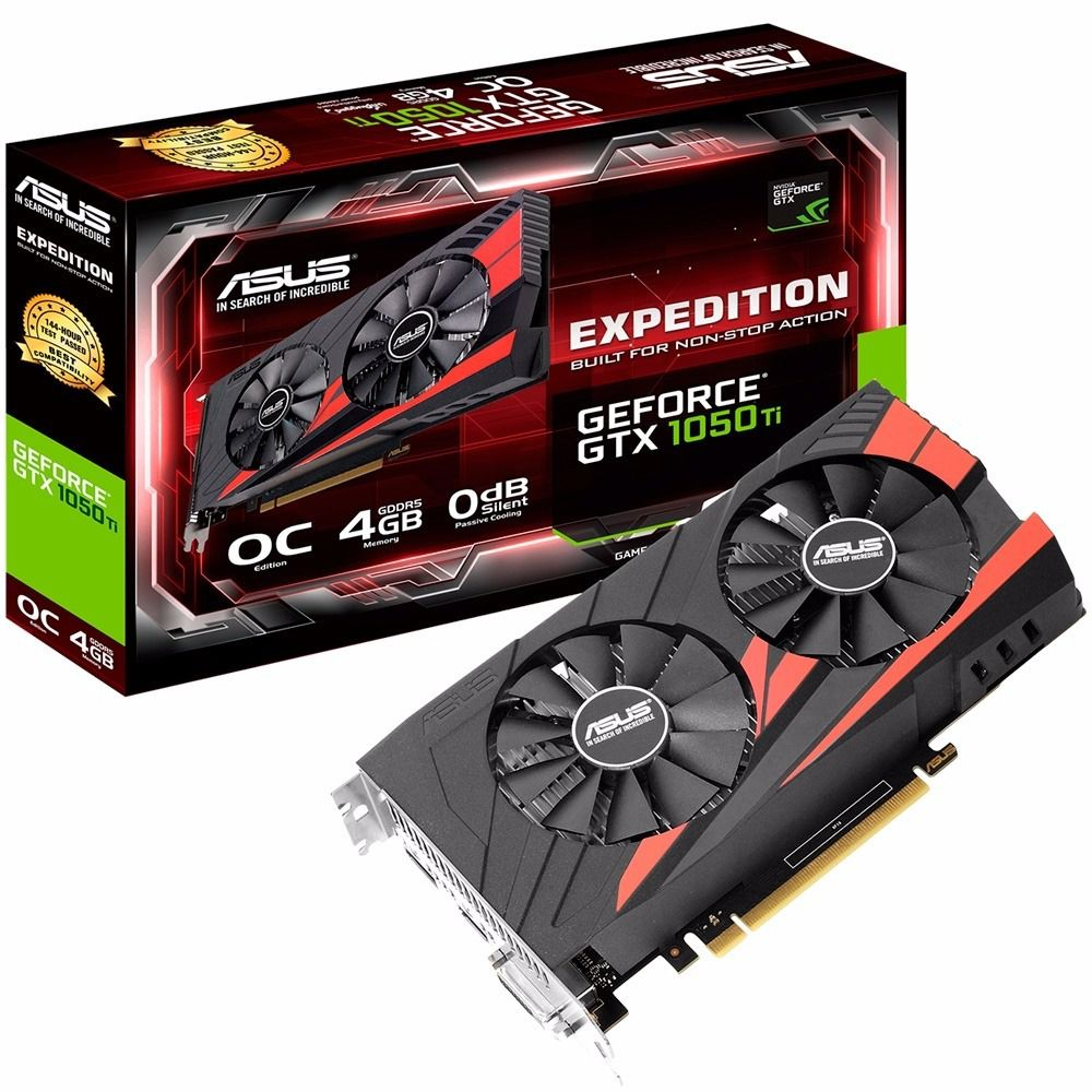 Placa de Video GTX 1050 ti 4GB Nvidia Geforce Asus Expedition