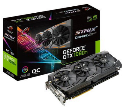 Placa de Vídeo Asus GTX 1080 ti STRIX 11GB