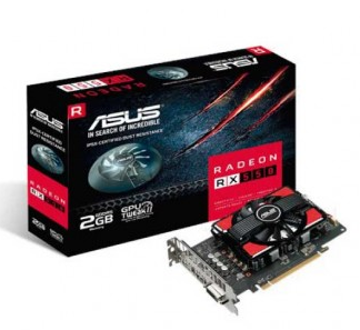 Placa de Vídeo ASUS RADEON RX 550 2GB