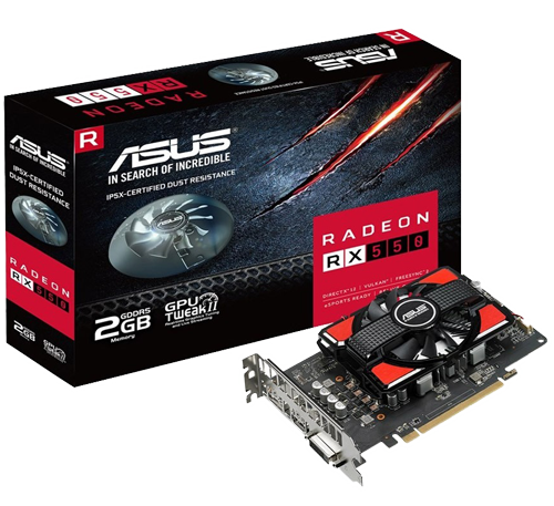 Placa de Video ASUS RADEON RX 550 2GB