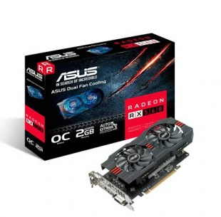 Placa de Video RX 560 2GB OC AMD RADEON Asus RX560-O2G