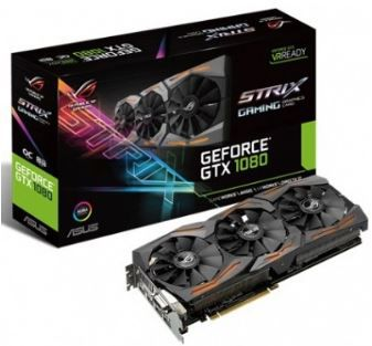 PLACA DE VÍDEO ASUS ROG GEFORCE GTX 1080 STRIX 8GB GDDR5X 256BIT