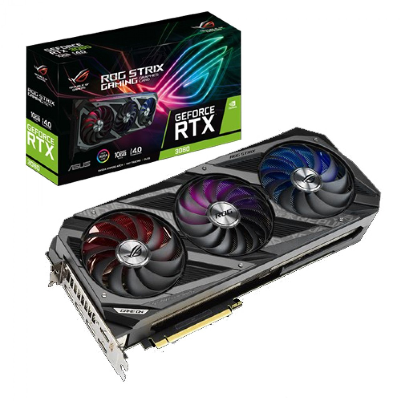 Placa de Vídeo Asus ROG Strix GeForce RTX 3080 10GB GDDR6X 320-bit ROG-STRIX-RTX3080-10G-GAMING