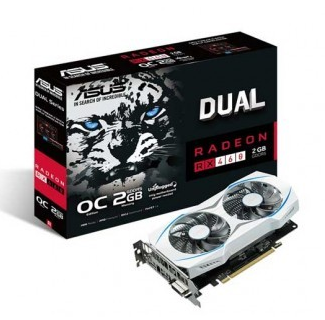 Placa de Video RX 460 2GB AMD RADEON ASUS DUAL Dual-RX460-02G