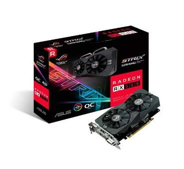 PLACA DE VIDEO ASUS STRIX RADEON RX 560 4GB OC GDDR5, ROG-STRIX-RX560-O4G-GAMING