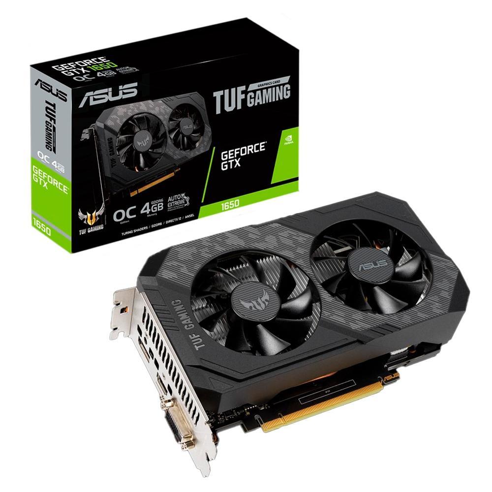 Placa de Vídeo Asus TUF Gaming GeForce GTX 1650 OC Dual 4GB GDDR6 128Bit TUF-GTX1650-O4GD6-P-GAMING