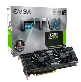 Placa de Vídeo EVGA GEFORCE GTX 1050 FTW 2GB 128BIT GDDR5 02G-P4-6157-KR