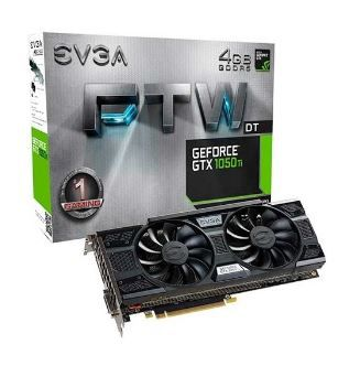 PLACA DE VIDEO EVGA GEFORCE GTX 1050 TI FTW DT 4GB 128BIT GDDR5, 04G-P4-6256-KR