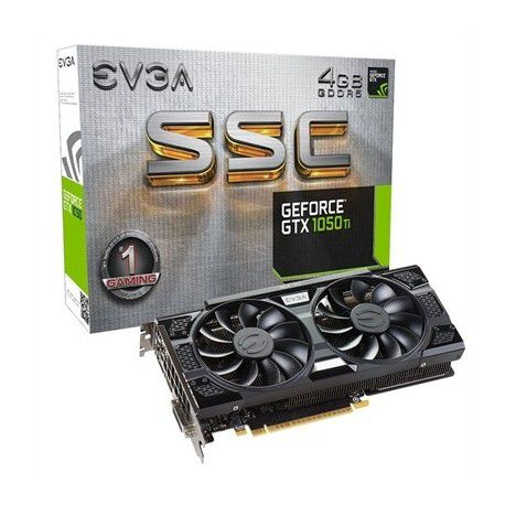 PLACA DE VIDEO EVGA GEFORCE GTX 1050 TI SSC 4GB 128BIT GDDR5