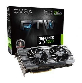 Placa de Vídeo EVGA GEFORCE GTX 1080 FTW GAMING ACX 3.0 8GB GDDR5X 256BIT 08G-P4-6286-KR