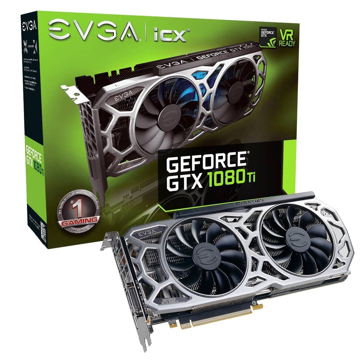 PLACA DE VIDEO EVGA GEFORCE GTX 1080 TI 11GB GDDR5X 352BIT REF ICX, 11G-P4-6591-KR