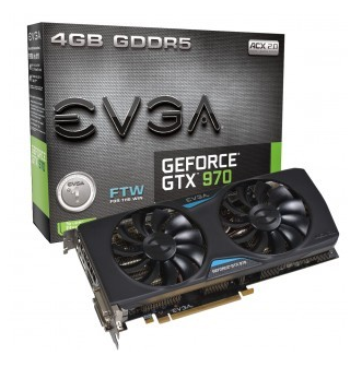 Placa de Vídeo EVGA GEFORCE GTX 970 FTW 4GB