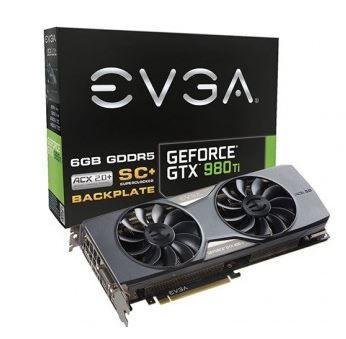 PLACA DE VÍDEO EVGA GEFORCE GTX 980 TI SC+ ACX 2.0+ 6GB GDDR5 384BIT 06G-P4-4995-KR- BOX