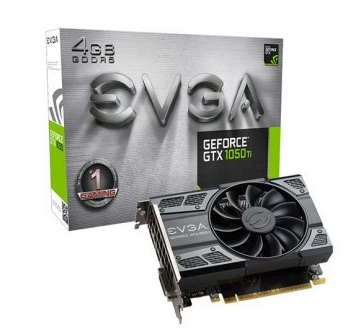 Placa de Vídeo EVGA GTX 1050 ti 4GB