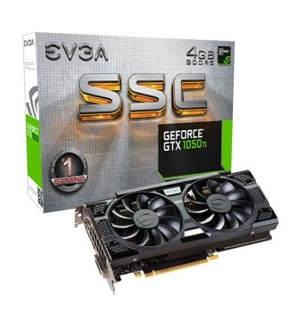 Placa de Vídeo EVGA GTX 1050 ti 4GB SSC
