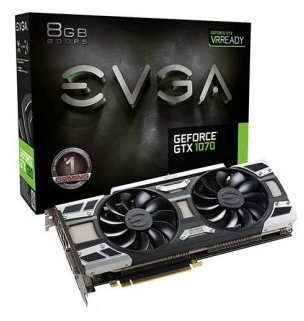Placa de Vídeo EVGA GTX 1070 8GB