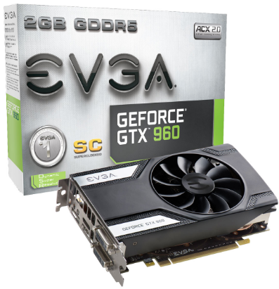 Placa de Vídeo EVGA GTX 960 2GB