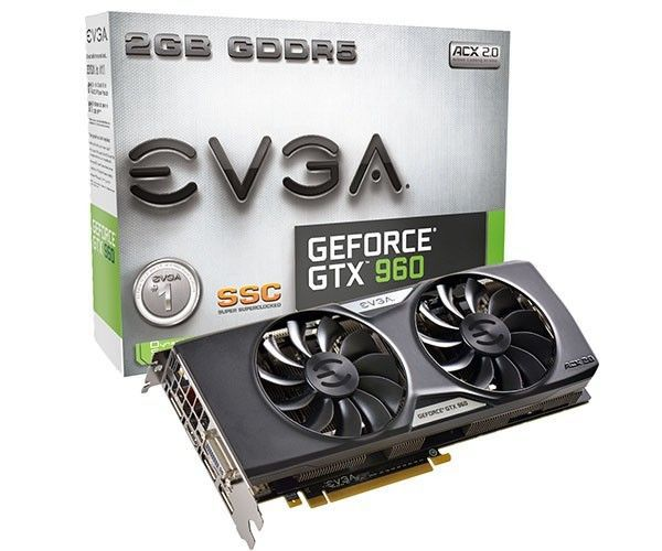 Placa de Vídeo EVGA GTX 960 2gb SSC