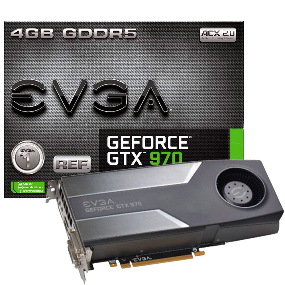 Placa de Vídeo EVGA GTX 970 REF 4GB