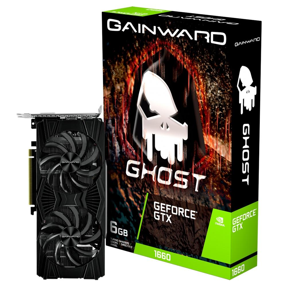 PLACA DE VIDEO GAINWARD GEFORCE GTX 1660 6GB GHOST GDDR6 192BIT NE51660018J9-1161X