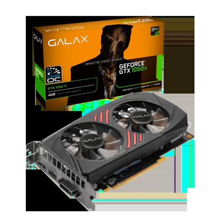 PLACA DE VIDEO GALAX GEFORCE GTX 1050 TI 4GB GDDR5 1-CLICK OC 128-BIT 50IQH8DSC7CB