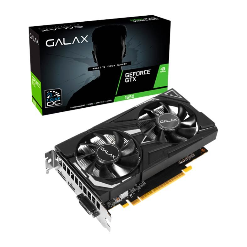 PLACA DE VIDEO GALAX GEFORCE GTX 1650 EX 4GB GDDR5 1-CLICK OC 128-BIT 65SQH8DS08EX