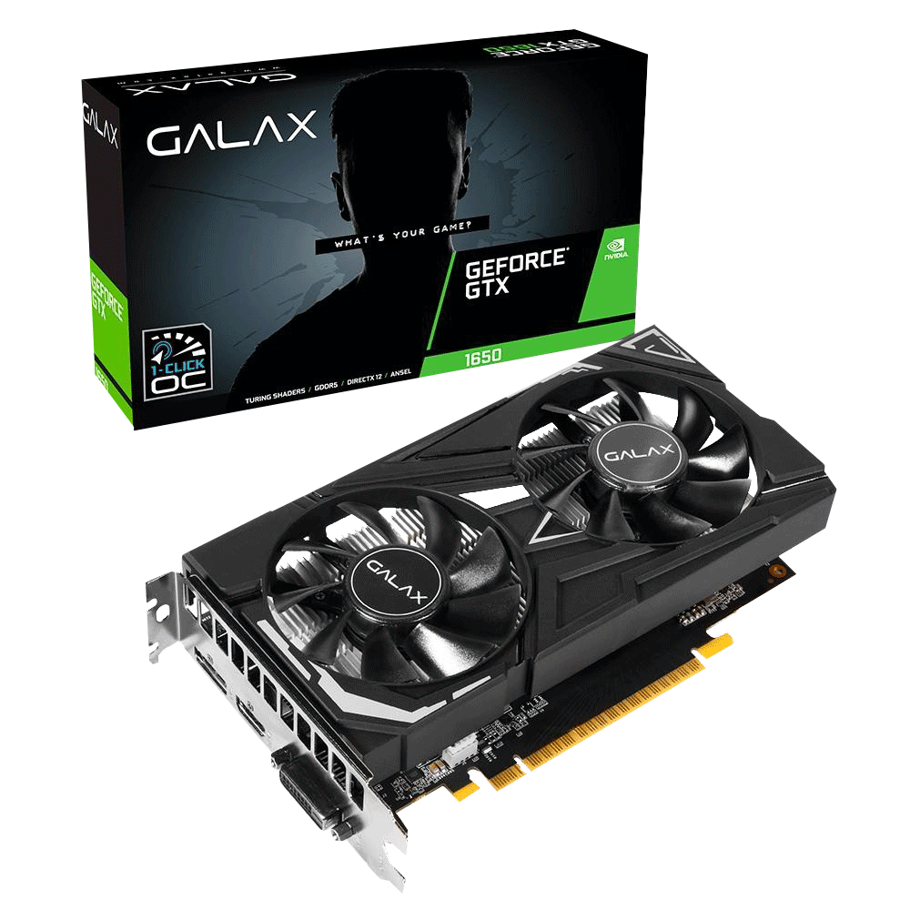 PLACA DE VIDEO GALAX GEFORCE GTX 1650 EX 4GB GDDR6 1-CLICK OC 128-BIT 65SQL8DS66E6