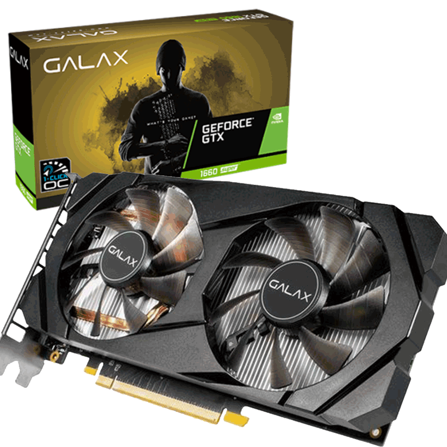 PLACA DE VIDEO GALAX GEFORCE GTX 1660 6GB SUPER 1CLICK OC G6 192 BIT 60SRL7DSY91S