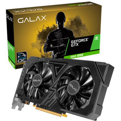 PLACA DE VIDEO GALAX GEFORCE GTX 1660 SUPER EX 6GB GDDR6 1-CLICK OC 192-BIT 60SRL7DS03ES