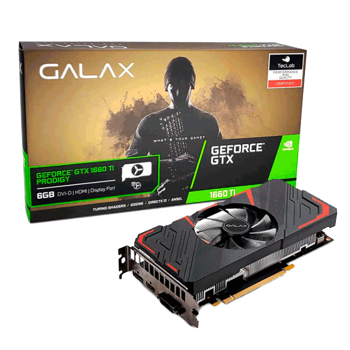 PLACA DE VIDEO GALAX GEFORCE GTX 1660 TI PRODIGY 6GB GDDR6 192BIT 60IRL7DS46PY